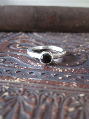 925 Solid Silver Stone Ring- Onyx