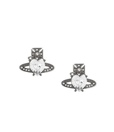 Vivienne Westwood Ariella Earrings - Ruthenium/ Crystal