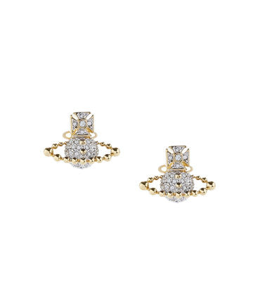 Vivienne Westwood Lena Bas Relief Earrings - White crystal