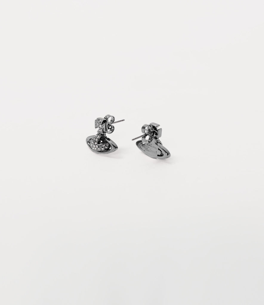 Vivienne Westwood SORADA BAS EARRINGS GUNMETAL TONE