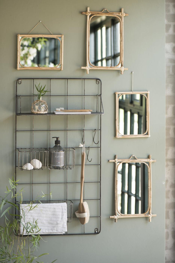 Mirror wall Bamboo edge - small