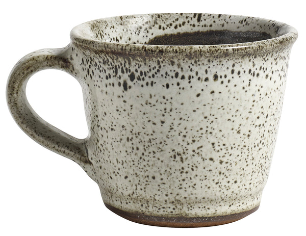 conic mug with handle raw beige
