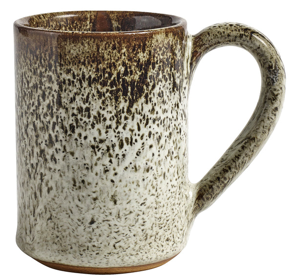 Tall mug with handle raw beige