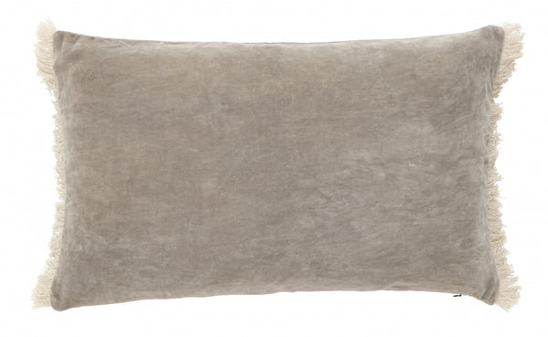 Cushion with Fringe - Beige