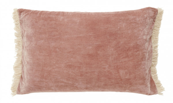 Cushion with Fringe - Dusty Rose