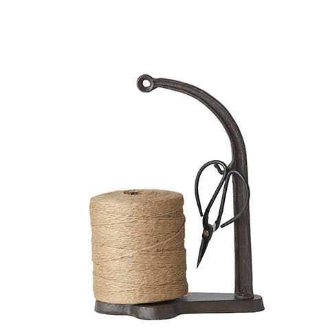 Cast Iron String Holder w/ Scissors