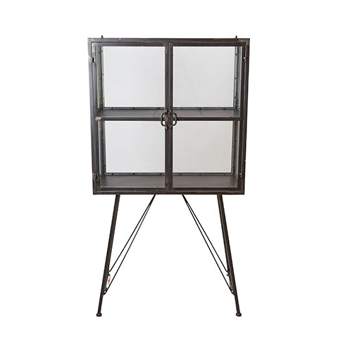 Cabinet, Glass/Iron Grey