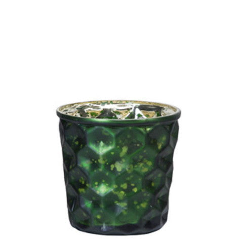 Dotted Matt Tea Light Holder- Green