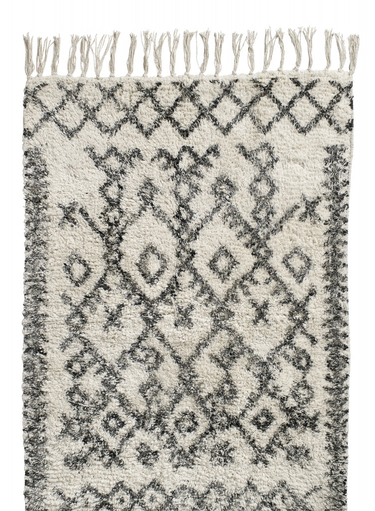 Harlekin Carpet, off white/black - small
