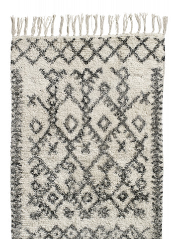 Harlekin Carpet, off white/black - small 60x90