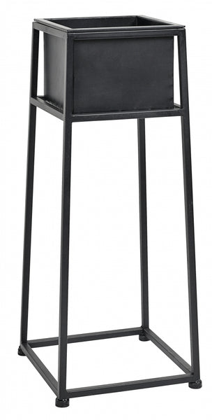 Iron planter on stand black