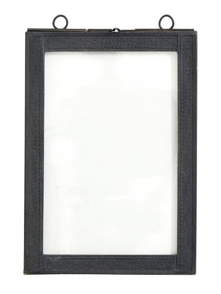 Photo frame f/hanging, medium, black