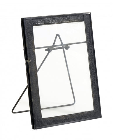 Photo frame f/standing, med., black