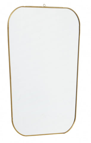 Mirror, square w / rounded edges, golden