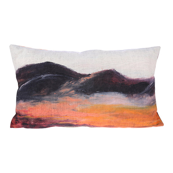 Printed Cushion Painted Mountains