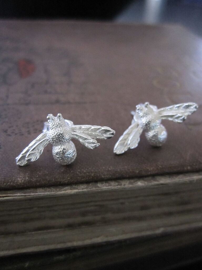 925 Silver Bee Earrings