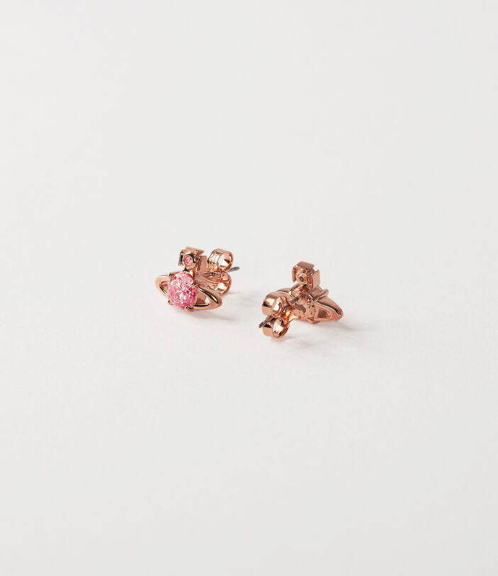 Vivienne Westwood Reina Earrings - Pink Gold
