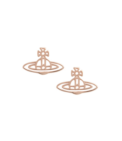 Vivienne Westwood Thin Lines Flat Orb Stud Earrings - Pink Gold
