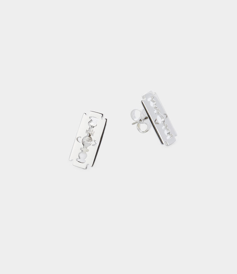 Vivienne Westwood Gigliola Stud Earrings - Rhodium