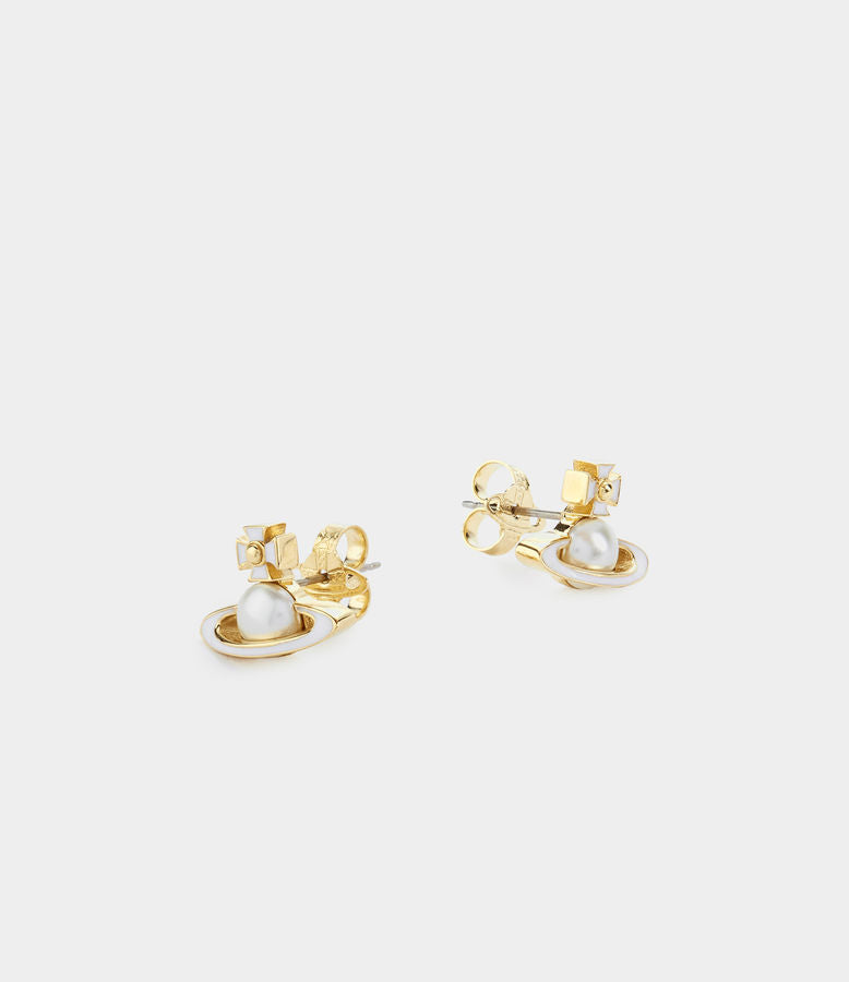 Vivienne Westwood Iris Bas Relief Earrings - Gold
