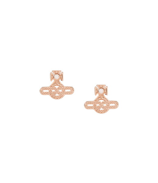 Vivienne Westwood Infinity Earrings - Pink Gold