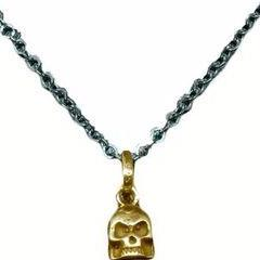 CollardManson 925 Silver Skull Necklace-gold