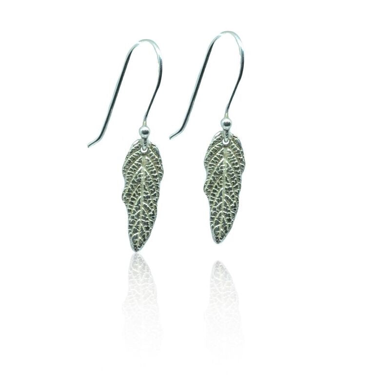 CollardManson 925 Silver Leaf Earrings