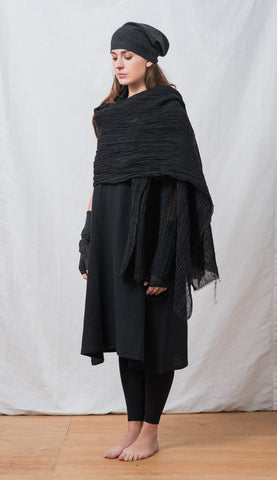 WDTS Linen Scarf- Black