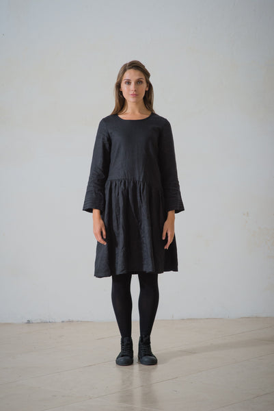 WDTS - Natalya linen dress - Black