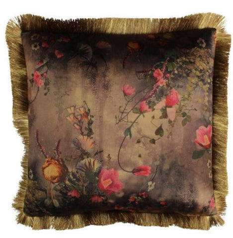 Velvet flower cushion