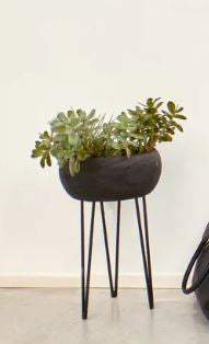 wooden planter on stand