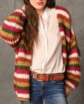CHICOSOLEIL CHARLY-A -GILET MULTICOLOR MOHAIR/WOOL/ACRYL/POLY