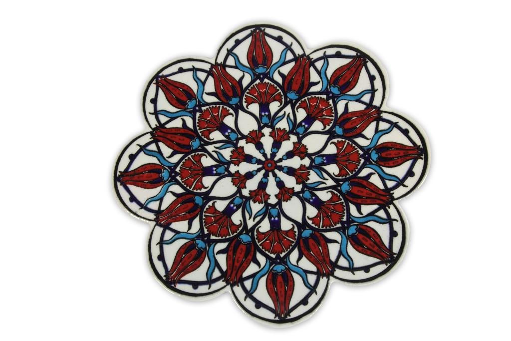 Ceramic Tile Trivet - Red