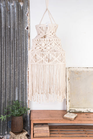 Tiered Macrame Lampshade
