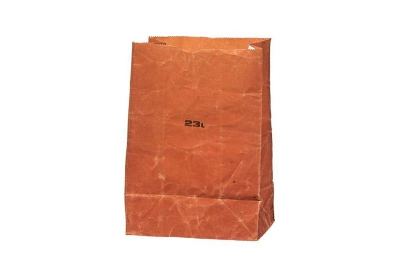 Brown Cotton Grocery Bag - 23L
