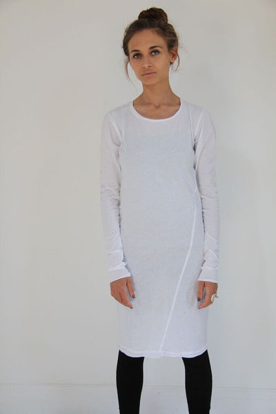 Window Dressing The Soul- White no print Dress