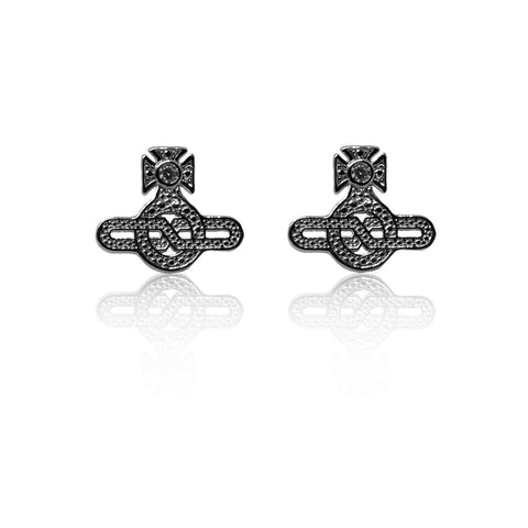 Vivienne Westwood Infinity Earrings - Ruthenium