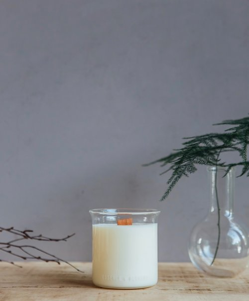 Essence + Alchemy Beaker Candle- Smoke