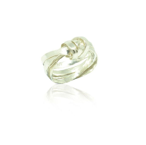 925 Solid Silver Thrice Wrapped Knot Band