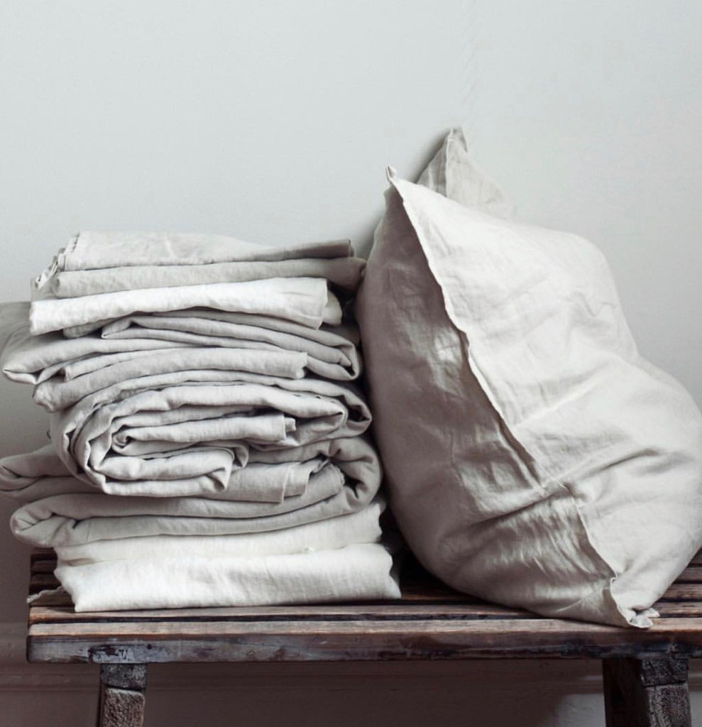 Square Pillowcase linen - light grey