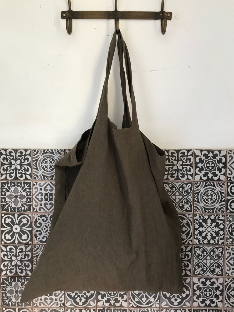 CollardManson Linen Nomad bag