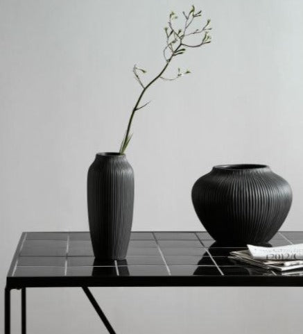 HANO tall vase, black