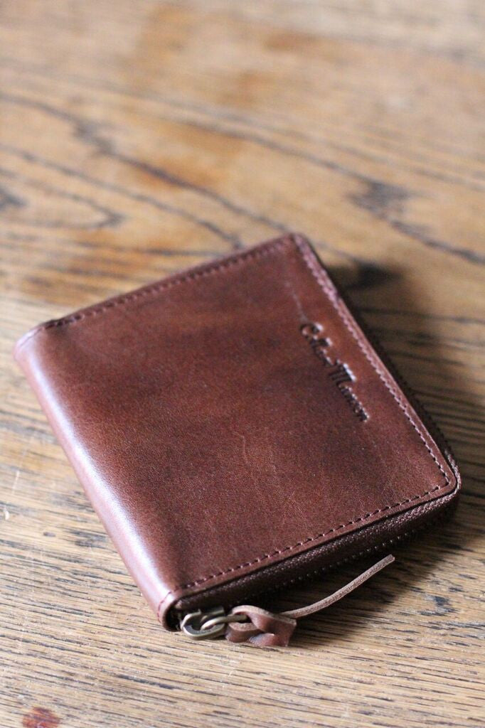 CollardManson Square Wallet- Brown