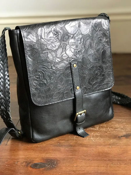 CollardManson Delilah Bag- Black Floral