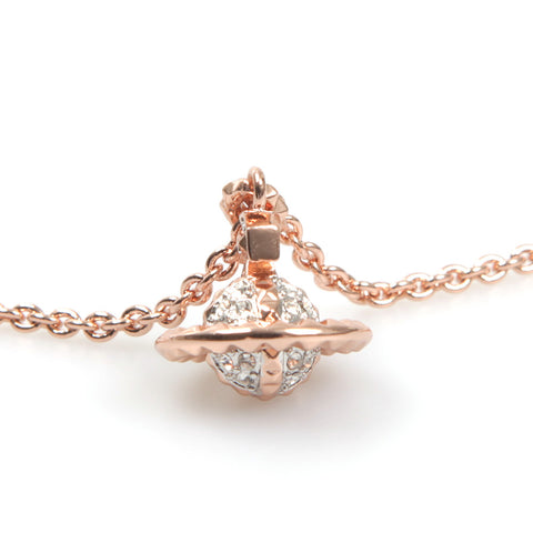 Vivienne Westwood Mayfair Small 3D Orb Pendant - Pink Gold/Crystal