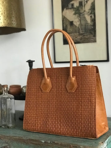 CollardManson Leonie Bag - Weaved Tan