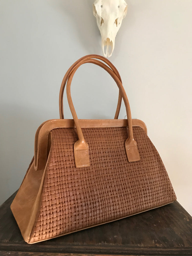 CollardManson Doctor's Bag - Weaved Tan