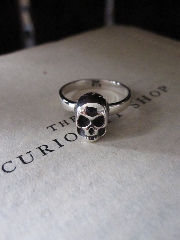 WDTS 925 Silver Skull Ring oxidised