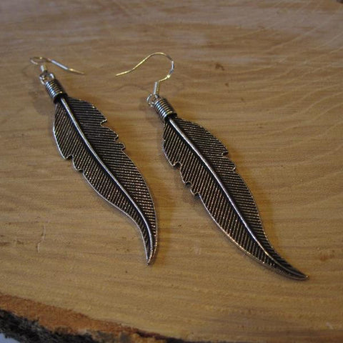 CollardManson 925 Silver Feather Earrings