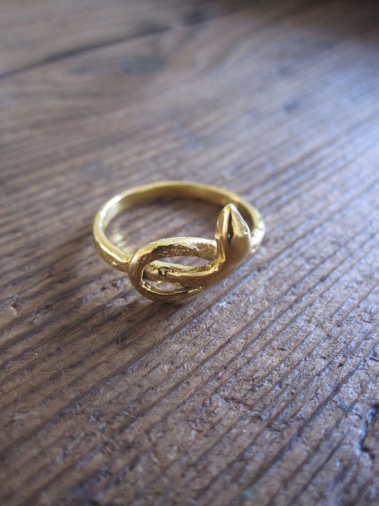 CollardManson 925 Gold Plated Silver Snake Ring